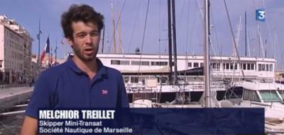 Melchior et son mini en reportage au JT de France 3 Méditerranée
