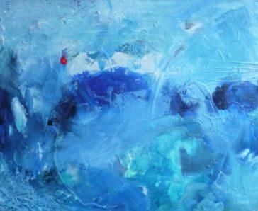 Exposition de Nadine Poulain: Fragments Bleus