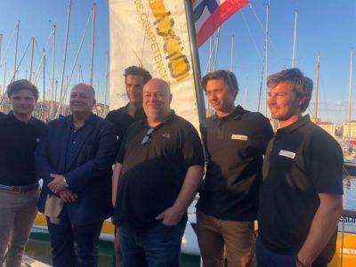 Le baptême du Diam24 du Team Réseau Ixio à Marseille avant le grand départ du TourVoile