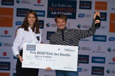 Pierre Quiroga enchaîne les podiums bizuths sur la Solitaire du Figaro !