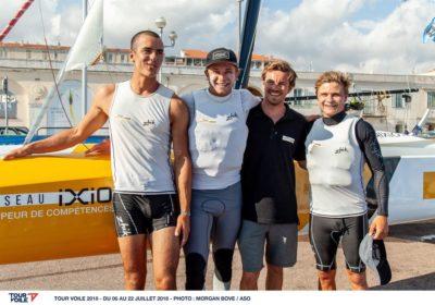 Team Réseau IXIO 3e au tour de Voile et 1er au classement jeunes