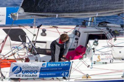 Notre champion Pierre Quiroga en tête de la Solitaire du Figaro !