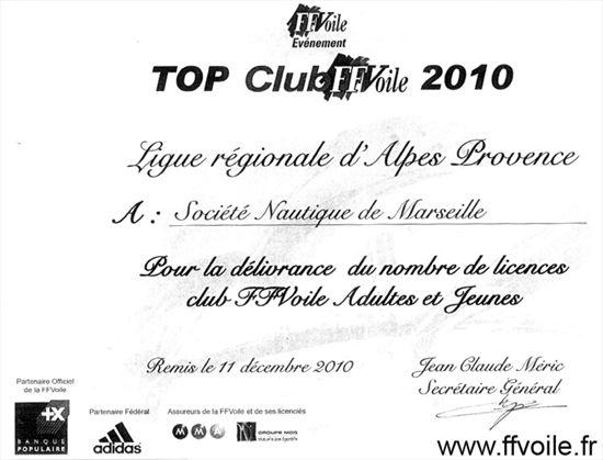 Top Club licences 2010
