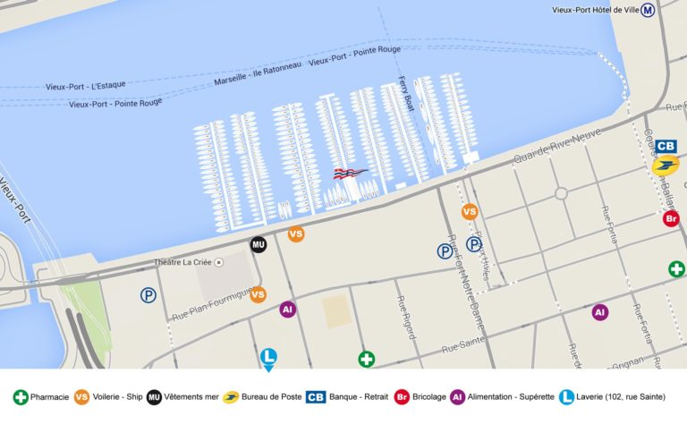 Plan du Vieux-Port de Marseille