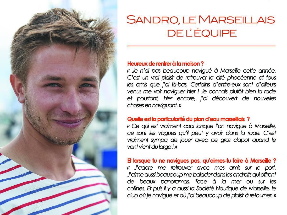 Interview Sandro au Tour Voile 2016