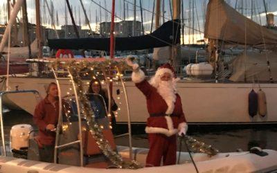 Quand le Père Noël accoste à La Nautique…