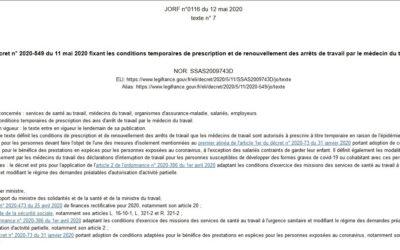 Covid-19 : décret n° 2020-548 du 11 mai 2020
