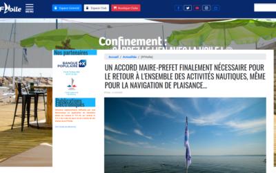 «Un accord Maire-Prefet finalement nécessaire pour le retour à l'ensemble des activités nautiques, même pour la navigation de plaisance»…