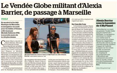 «Le Vendée Globe militant d'Alexia Barrier de passage à Marseille»