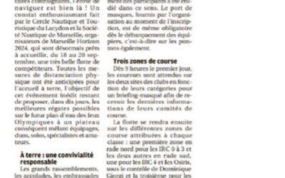 Marseille Horizon 2024 : «Plus de cent dix bateaux en course !»