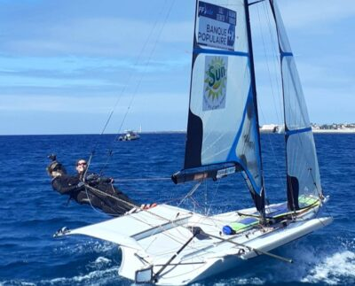 49er FX : Lili Sebesi et Albane Dubois prêtes pour la Lanzarote Winter Series