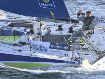 Pierre Quiroga, Solitaire du Figaro : première étape, premier podium !